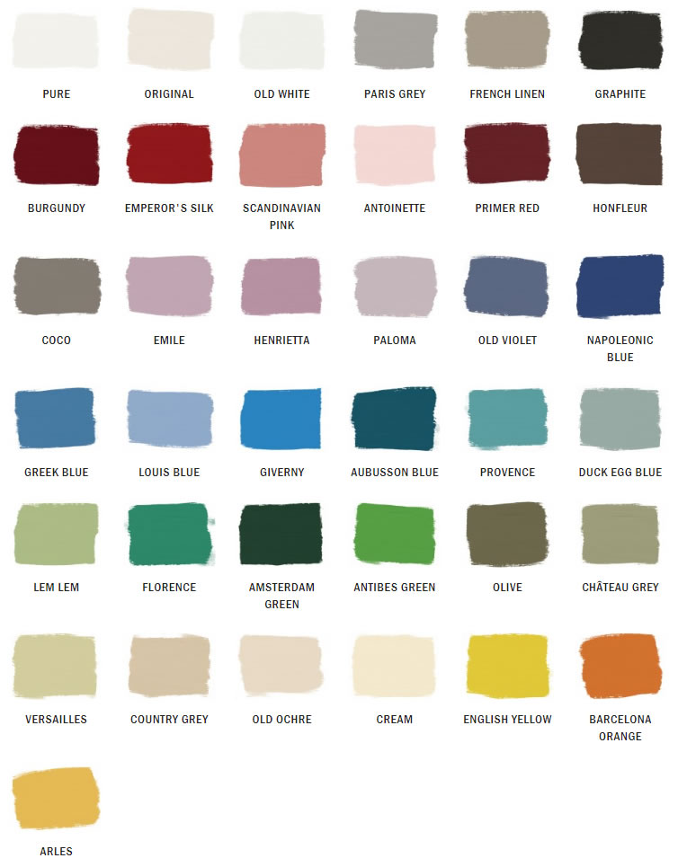 Annie Sloan Chalk Paint Swatches
